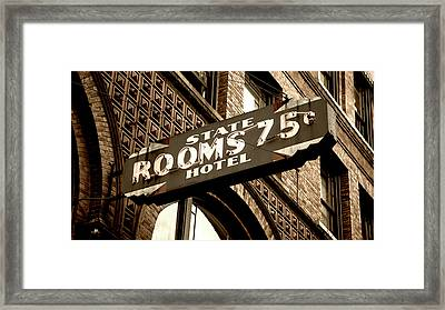 State Hotel - Seattle Framed Print
