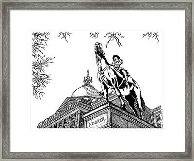 State House, Boston, Ma Framed Print by Conor Plunkett