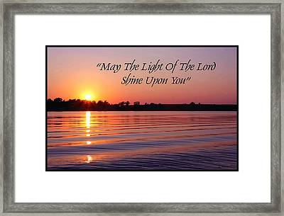 State Lake Sunset Framed Print by Jim  Darnall