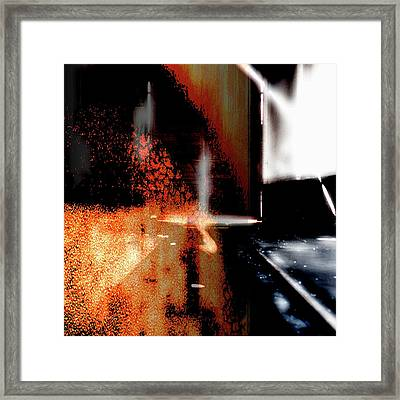 State Of Converging. Framed Print