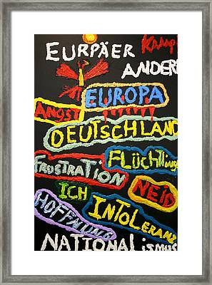 State Of Europe Framed Print