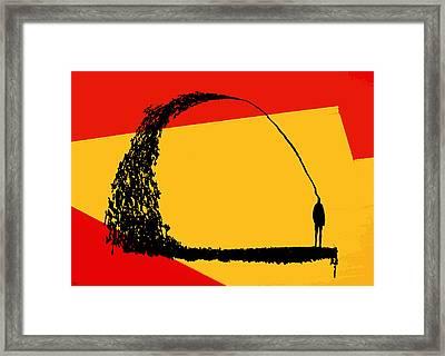 Framed Print featuring the digital art State Of Mind by Ken Walker