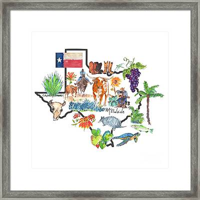 State Of Texas As I Know It Framed Print