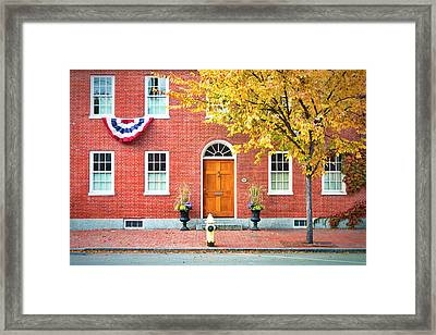 State Street Portsmouth Framed Print by Eric Gendron