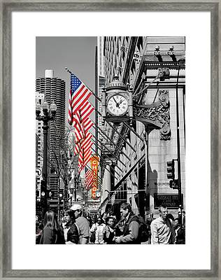 Framed Print featuring the photograph State Street Scene - 1 by Sheryl Thomas