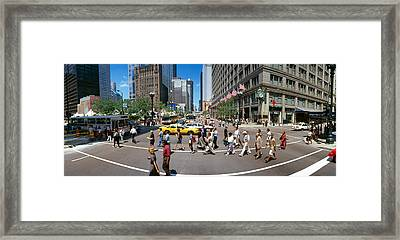 State Street With Marshall Fields Framed Print