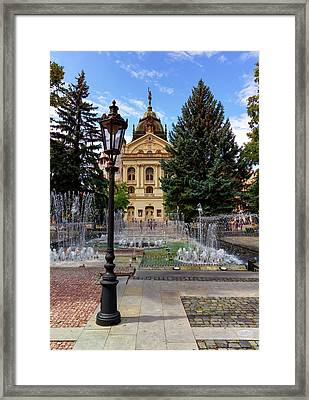 State Theater In The Old Town, Kosice, Slovakia Framed Print