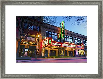 State Theatre - Ithaca Ny Framed Print by Stephen Stookey