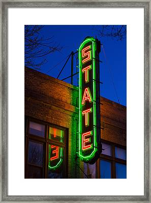 State Theatre - Ithaca Framed Print
