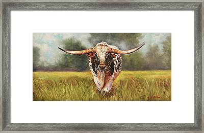 State Your Business Framed Print