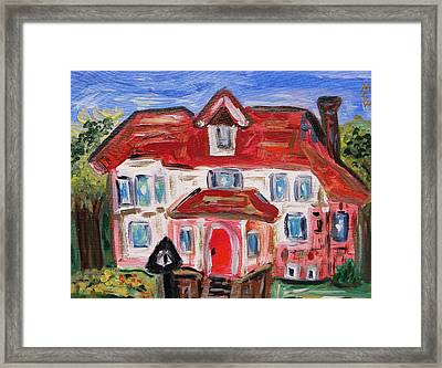 Stately City House Framed Print by Mary Carol Williams