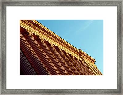 Stately Columns Framed Print by Todd Klassy