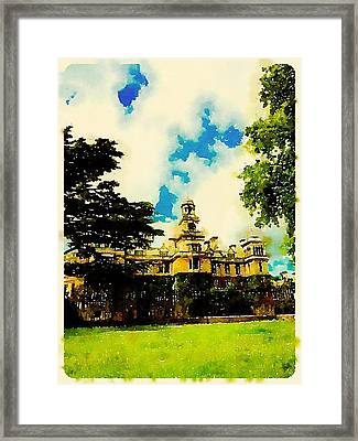 Stately Home By John Springfield Framed Print by Esoterica Art Agency