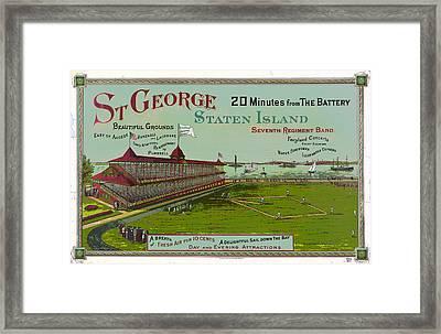 Staten Island Baseball Framed Print by Charles Shoup