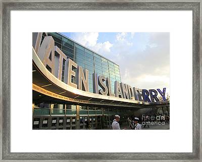 Staten Island Ferry 4 Framed Print by Randall Weidner