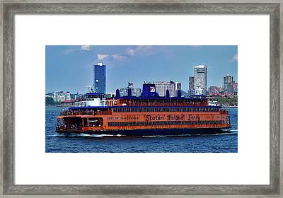 Staten Island Ferry Framed Print by A Hundt