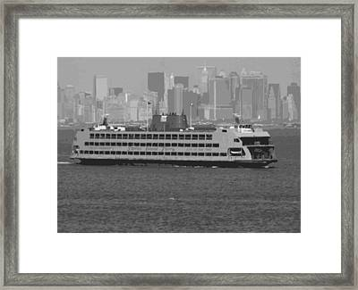 Staten Island Ferry Bw16 Framed Print by Scott Kelley