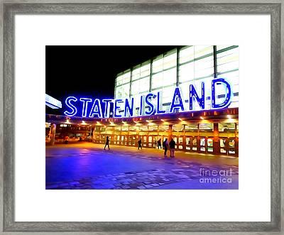 Staten Island Ferry Framed Print