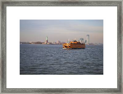 Staten Island Miniature Ferry Framed Print by Pelo Blanco Photo