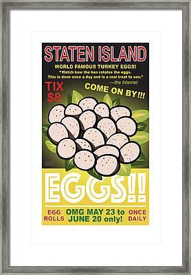 Staten Islands Eggs Framed Print