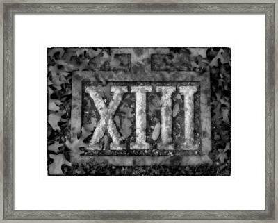 Station 13 Bw - San Juan Capistrano Framed Print by Stephen Stookey