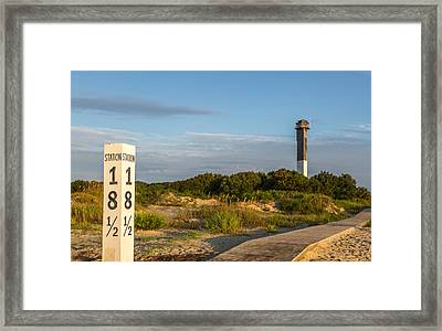 Station 18 1/2 On Sullivan's Island Framed Print