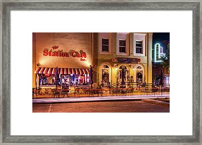 Station Cafe And Blue Moon - Bentonville Arkansas Framed Print by Gregory Ballos