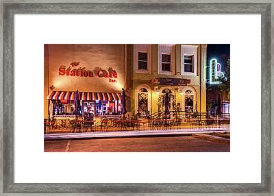 Station Cafe And Blue Moon - Bentonville Arkansas Framed Print