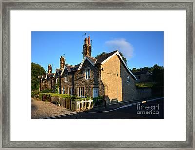 Station Cottages, Richmond Framed Print