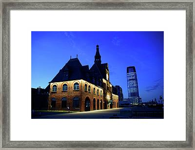 Station House Framed Print