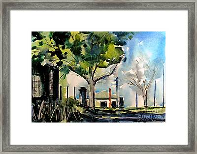 Station House Inner Urban Matted Glassed Framed Framed Print