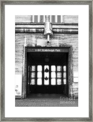 Station Framed Print by John Rizzuto