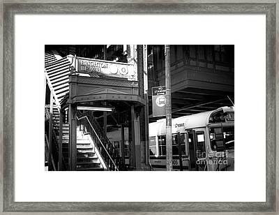 Station Lights Framed Print