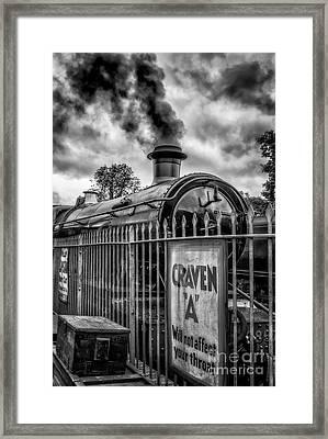 Station Sign Framed Print by Adrian Evans