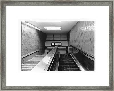 Station Stop  Framed Print