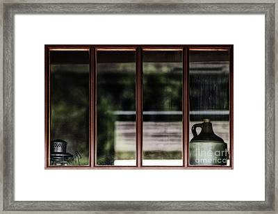 Framed Print featuring the photograph Station Window by Brad Allen Fine Art