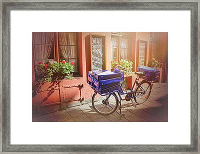 Stationary In Freiburg Framed Print by Carol Japp