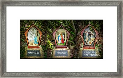 Stations Of The Cross 1 Framed Print by Adrian Evans