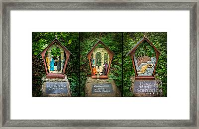 Stations Of The Cross 2 Framed Print by Adrian Evans
