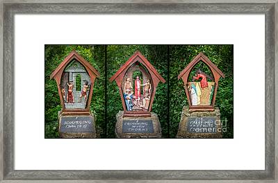 Stations Of The Cross 3 Framed Print by Adrian Evans