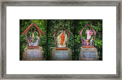 Stations Of The Cross 4 Framed Print by Adrian Evans