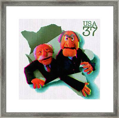 Statler And Waldorf Framed Print by Lanjee Chee