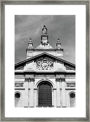 Statue And Pediment Of Oratory London Framed Print