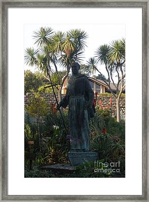 Statue At Mission Carmel Framed Print
