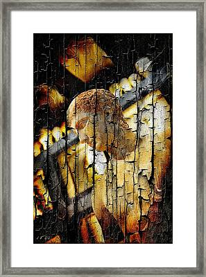 Statue Athlete Framed Print