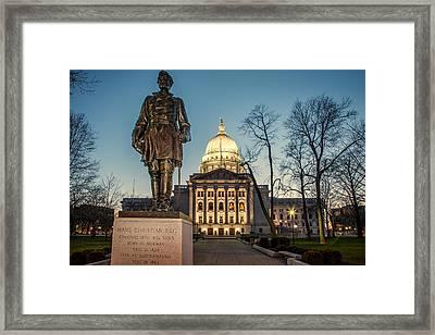 Statue Capitol Dusk Framed Print by Todd Klassy