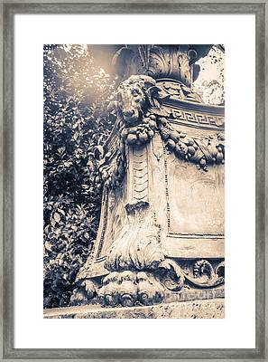 Statue In Bryant Park Nyc Framed Print by Edward Fielding