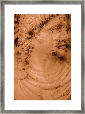 Statue In Multiphoto Framed Print