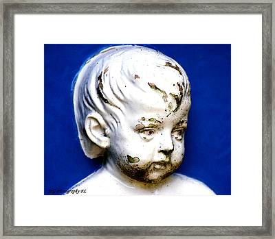 Framed Print featuring the photograph Statue  by Marty Gayler