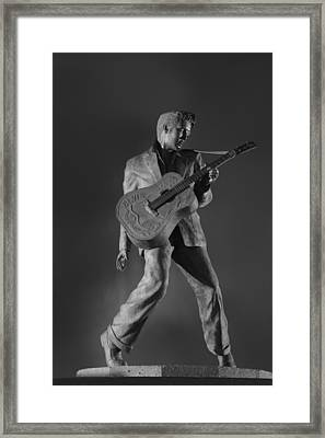 Statue Of A Young Elvis Presley  Framed Print by Art Spectrum